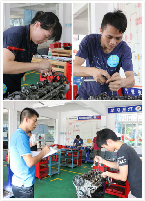 番禺区技能大赛发动机拆装与检测
